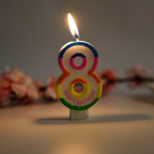 Birthday Cake colorful digit candle for gift