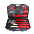 18pcs stainless steel bbq tools set storage box