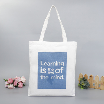 shopping cotton slogan pattern bag