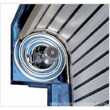 Aluminum high speed spiral door