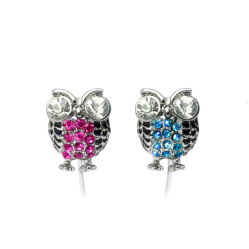 Novel owl style in ear headphones CE ROHS