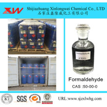 China Gold Supplier for China Industrial Grade Formaldehyde,Formaldehyde Solution Manufacturer and Supplier Retain Freashness Formaldehyde Solution supply to Portugal Importers