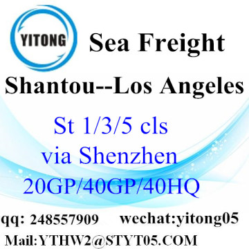 LCL Shipping Service Frim Shantou to  Los Angeles