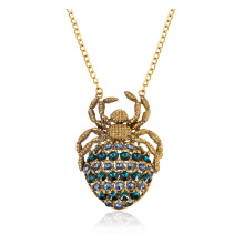 China for Pretty Lady Necklaces Antique Gold Plated Spider Women Necklace Pendant supply to Svalbard and Jan Mayen Islands Factory