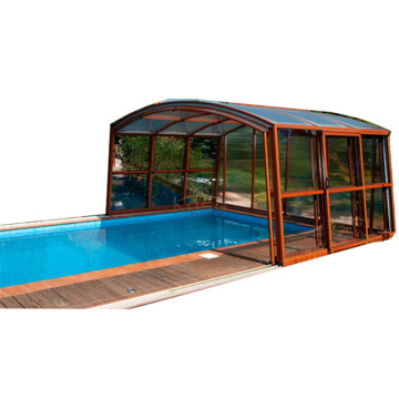 Hot sale good quality for Polycarbonate Swimming Pool Enclosures Retractable Cover Swimming Pool Enclosure export to Slovenia Manufacturers