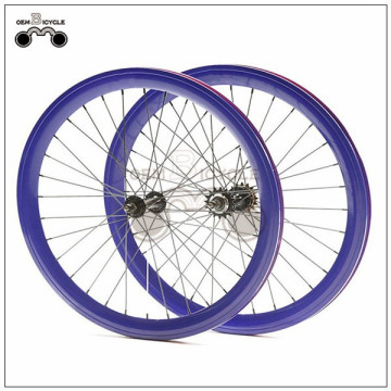 650C 45mm fix double-walled aluminum wheelset