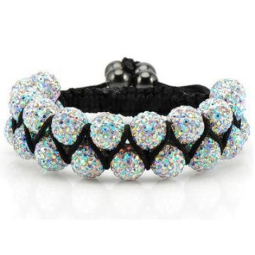 China for Shamballa Bracelet,  Shamballa Bracelet Diy,  Shamballa Bracelet Men  manufacturer from China Shamballa Bracelets For Women AB Colorful Shamballa Jewels supply to Hungary Factory