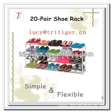 20 pair 4 layer metal kids small shoe rack