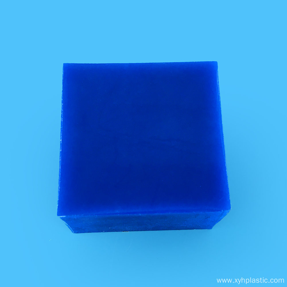 Engineering Plastics 50mm Blue/Beige Cast Nylon Sheet