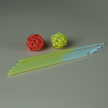 100% pure Hand-dipped Beeswax Birthday Candles
