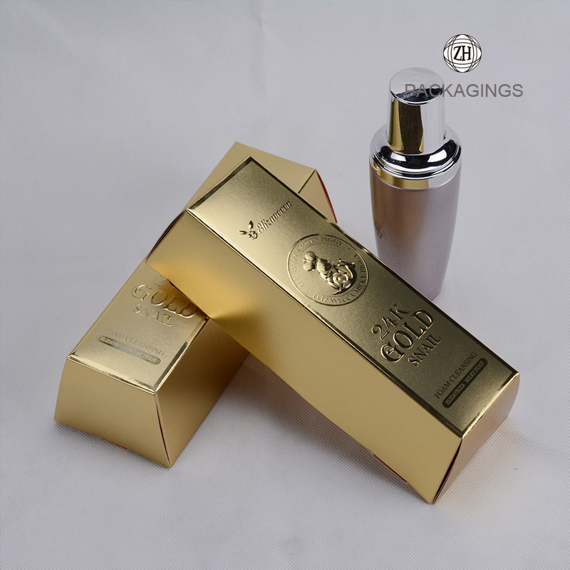 Custom made luxury gold cardboard cosmetic box