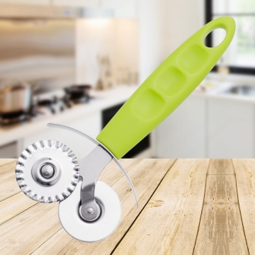 Pizza Cutter Slicer Double Wheels in PP Handle