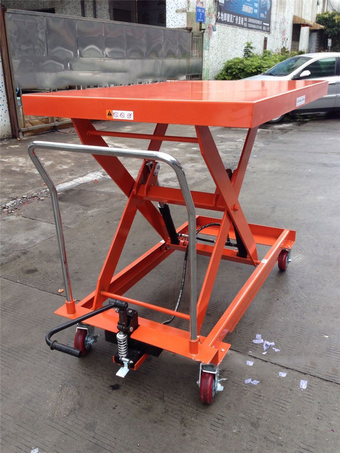 hydraulic scissor lift trolley