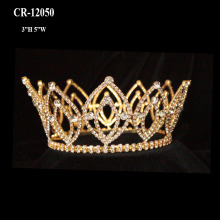 Wholesale Gold Full Round Pageant Crowns