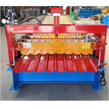 Building Trapezoidal Roofing Sheet Roll Forming Machine