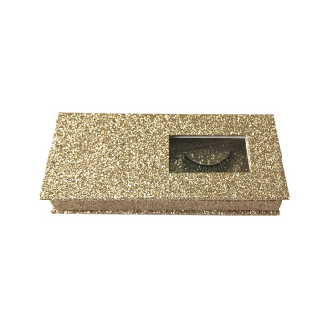 Custom Magnet Glitter eyelash box with window