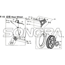 F-10 Rear Wheel XS150T-8 CROX For SYM Spare Part Top Quality