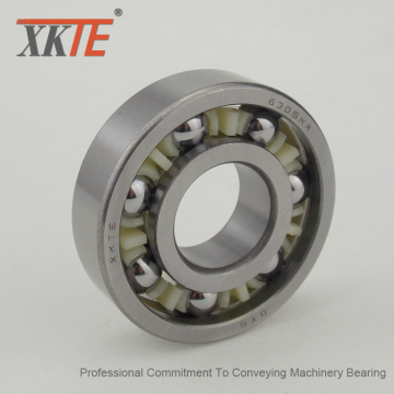 One-Piece Nylon Crown Type Cage Bearing For Idler