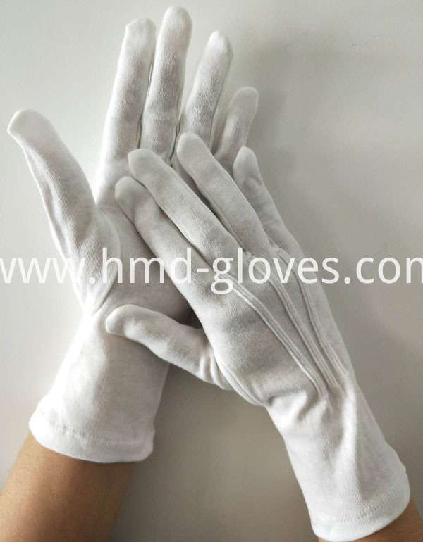 Long Wristed White Cotton Gloves