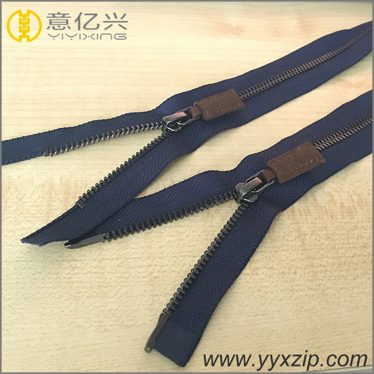 Rose Glod Metal Zipper