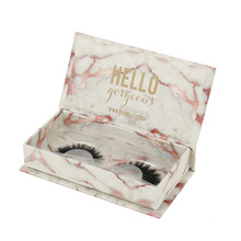 Elegant Floral Eyelash Cardboard Packaging Box