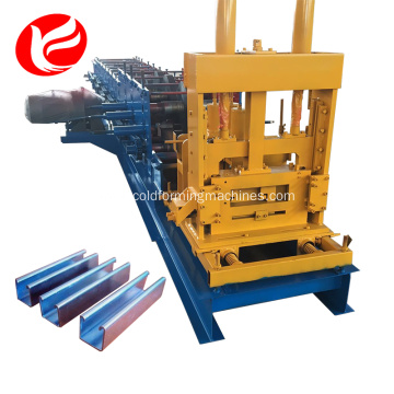 Steel punching c shape purlin roll forming machine