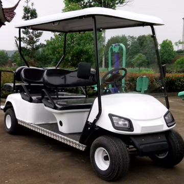 Electric golf cart with fixed seat