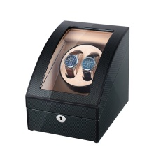 Sort finish Carbon Fiber Watch Winder Med Opbevaring