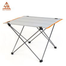 Glacier Gray Ultralight Alumnium roll up camping table
