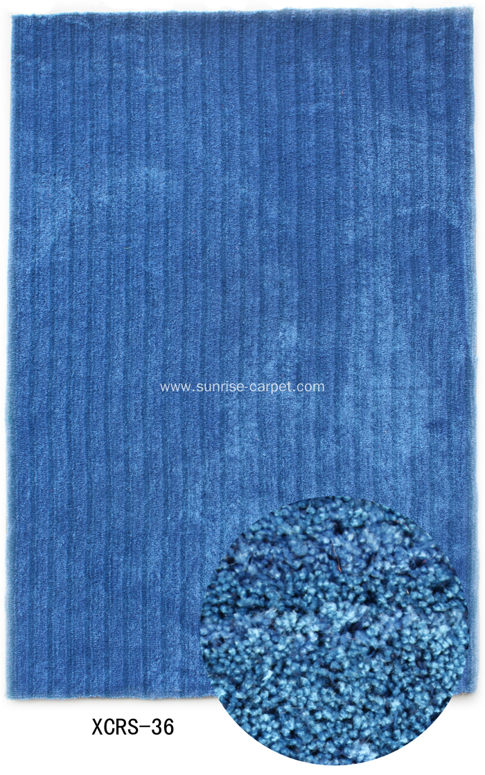 Microfiber & Silk mix Shaggy Rug