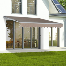 manual retractable overhang awning