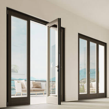 Lingyin Construction Materials Ltd aluminum slide and swing casement doors aluminum frame glass door