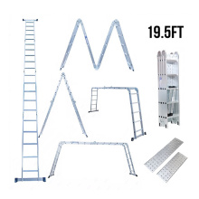 China for China Aluminum Folding Ladder,Folding Ladder With Color,Folding Ladder With Hinges Manufacturer AY-402 aluminum folding ladder export to Liberia Factories