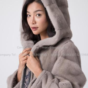 Manufactur standard for Black Mink Fur Coat Kopenhagen Mink Fur Coat export to France Manufacturer
