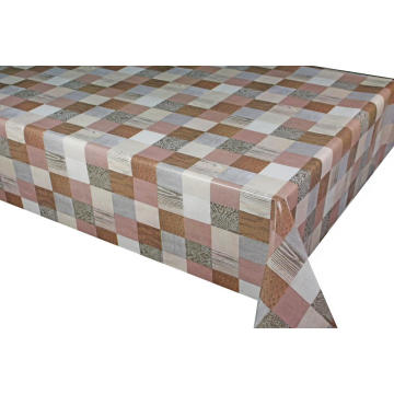 Pvc Printed fitted table covers Linen 9 Letters