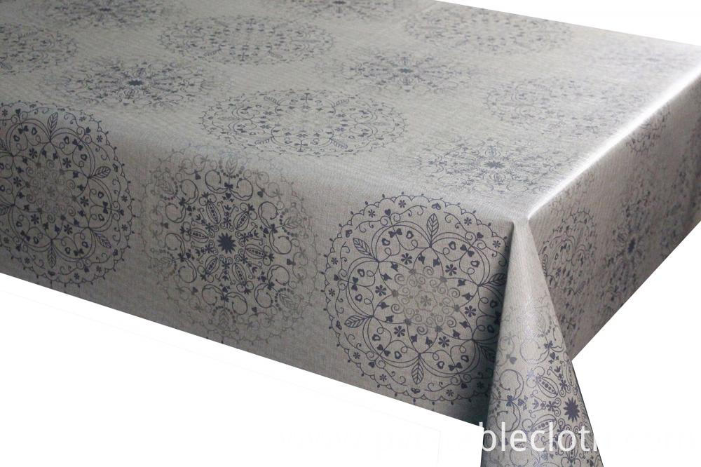 vinyl tablecloth with non-woven backing