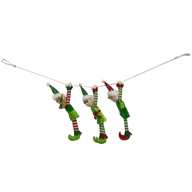 Christmas Magic Elf Pattern Bunting Banner