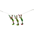 Christmas 3D elf pattern bunting banner