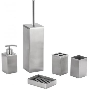 Square Stainless Steel Bathroom Accessory Set