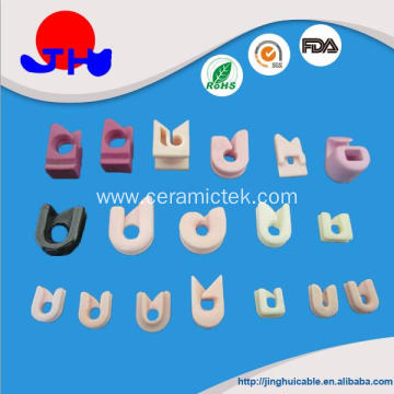Wearable ceramic hook guide