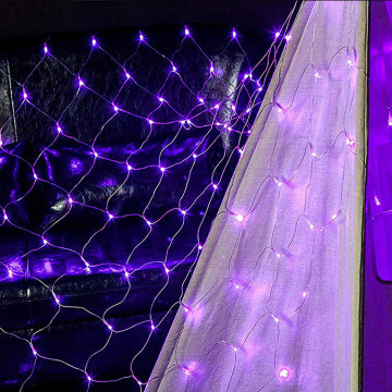 Factory supplied for Led Net Lights,Outdoor Led Net Lights,Christmas Led Net Lights Manufacturers and Suppliers in China Wedding Home Purple LED Net Lights supply to Malaysia Manufacturer