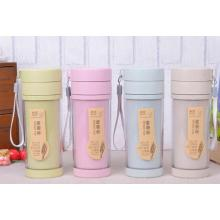 Double Wall Plastic Water Bottle With Tea Filter