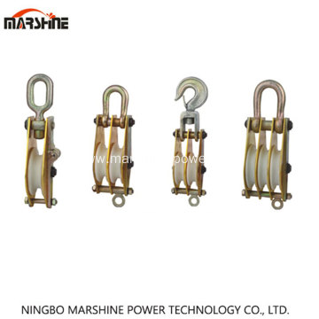Aluminum Alloy Plate Hoisting Tackle With Nylon Wheel
