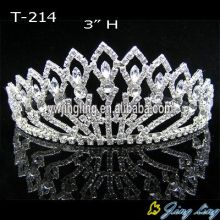 3 Inch Silver Crystal Tiara Crown