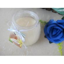 Wholesale Frosted White Glass Candle