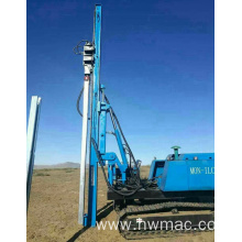 360 rotary crawler press concrete solar pile driver