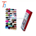 Free standing assembled metal shoe rack for 50 pairs