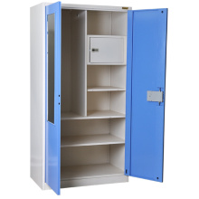 Factory made hot-sale for Gym Lockers Blue Mirror Metal Wardrobe supply to Czech Republic Wholesale