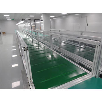 Customized Aluminum Frame Belt Conveyor with Side Wall