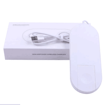 2 in 1 Ultra-thin Qi Wireless Charger Pad